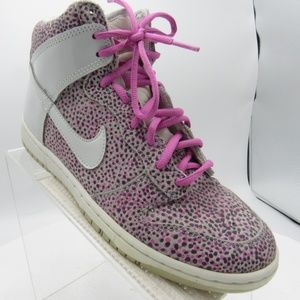 Nike Dunk Hi Skinny Print 543242-007 Size 8 Shoes